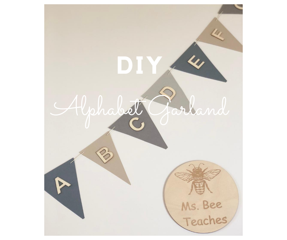 DIY Alphabet Garland