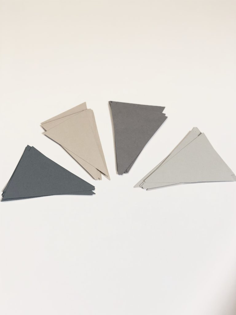 Neutral Card stock triangles