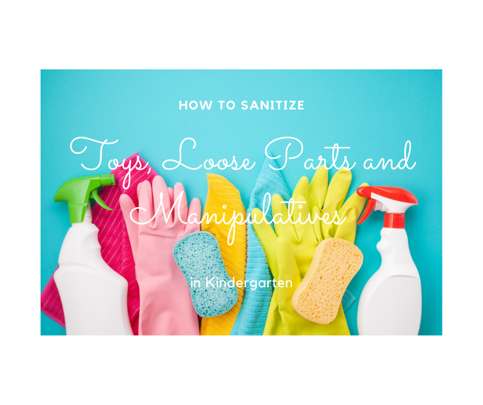How to sanitize loose parts in Kindergarten