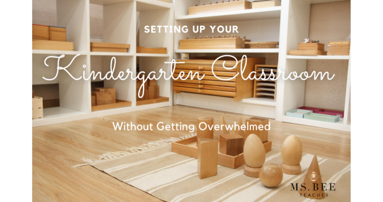 Setting up your Kindergarten Classroom