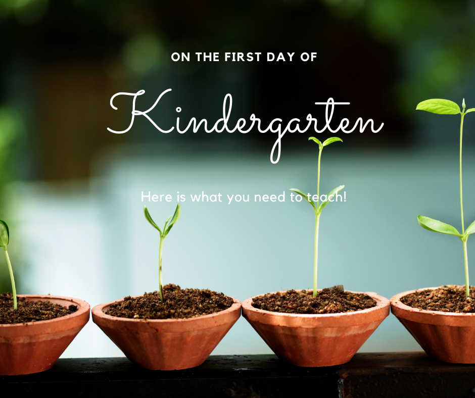 What I Teach the First Day of Kindergarten