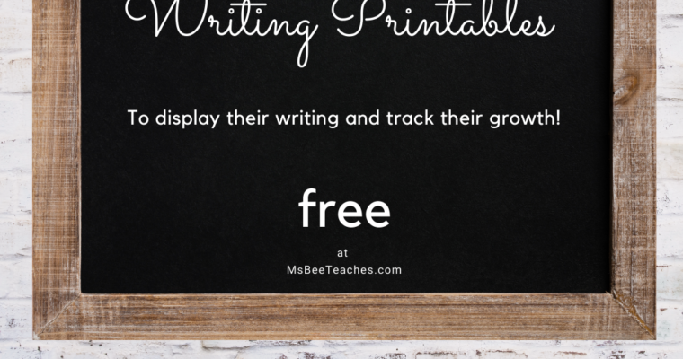 Free Kindergarten Writing Printables