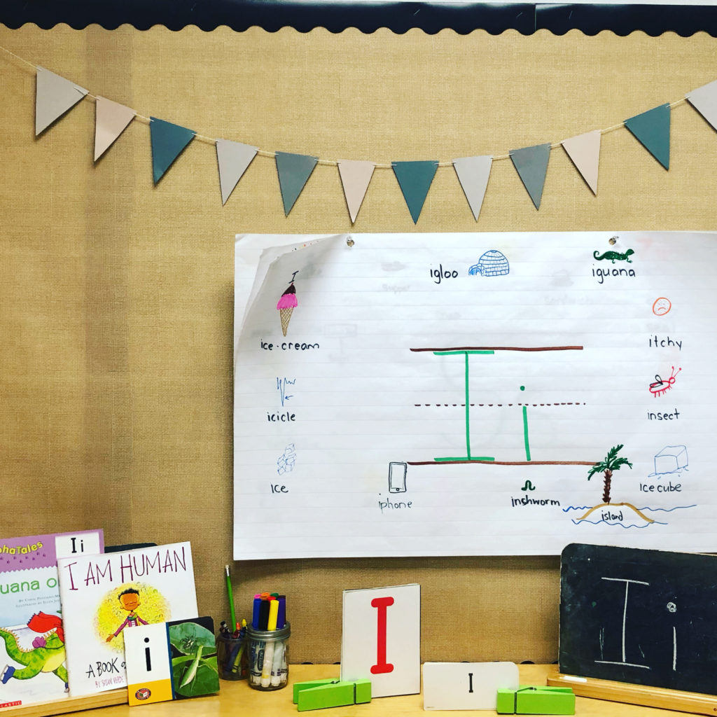 My literacy set up for the week.  We have started sight words as well!