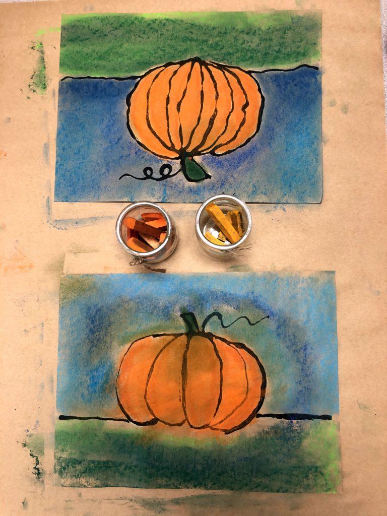 Art pastel pumpkin